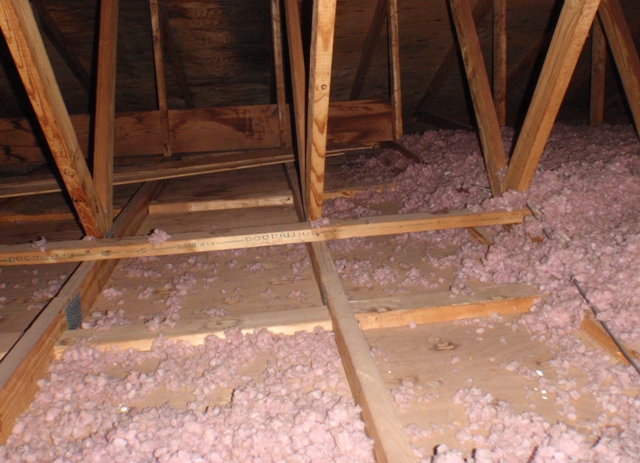 it is common to find insulation that is less than the r30 recommended or insulation that has settled but i think they ran out of insulation that day and
